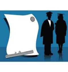 graduates vector image