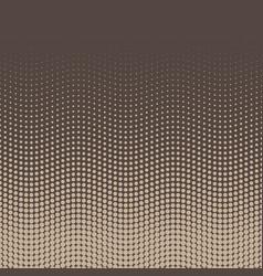 halftone background of dots in wavy arrangement vector image vector image
