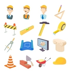 Repair and construction working tools icons set vector image vector image