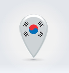 South Korean icon point for map vector image vector image