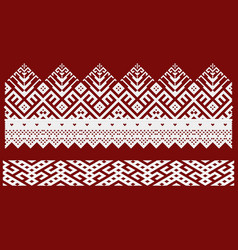 traditional embroidery of vector image vector image