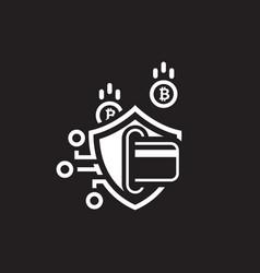 bitcoin secure transaction icon vector image vector image