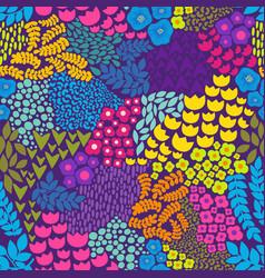 colorful floral pattern background for design vector image vector image