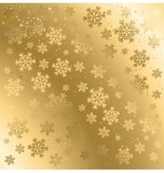 Gold winter abstract background vector image vector image