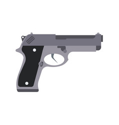 gun isolated silhouette pistol white weapon icon vector image vector image