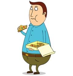 Man eating vector image vector image