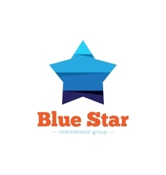 paper style multicolor star logo Flat vector image vector image