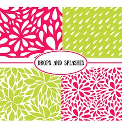 Seamless stylish pattern with raindrops vector image vector image