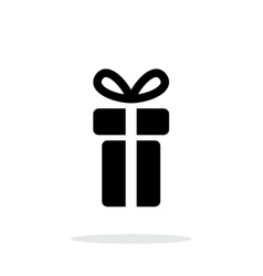 Small gift box icons on white background vector image vector image