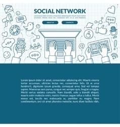 Social network concept vector image vector image