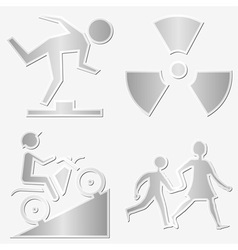 warning symbols vector image