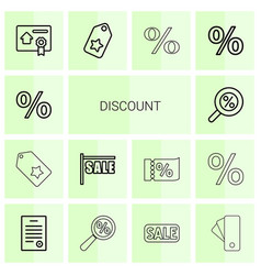 14 discount icons vector