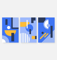 abstract minimal pattern with geometric shapes set vector image