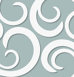 Abstract white waves background vector image