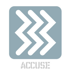 Accuse concept icon on white vector