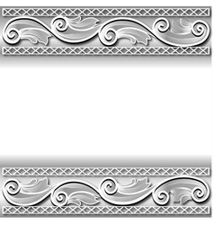 background frame with a white paper ornament vector image vector image