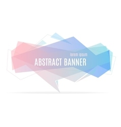 Banner Geometric Trendy vector