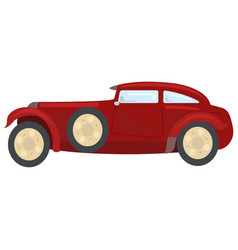 beautiful retro car vector image