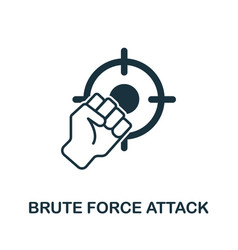 Brute force attack icon from banned internet vector