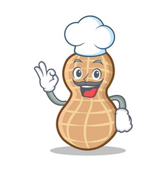 Chef peanut character cartoon style vector