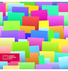 Colorful Paper Notes Seamless Background vector image
