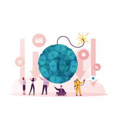 Coronavirus outbreak and global economy crisis vector