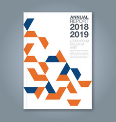cover annual report 1186 vector image