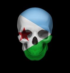 Djiboutian flag skull vector