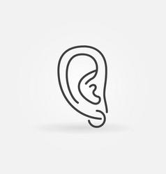 ear piercing icon - minimal symbol in thin vector image
