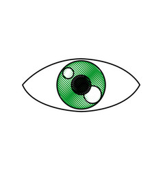 Eye people cartoon watch optic icon vector