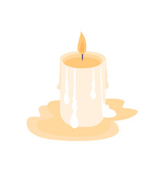 Flat candle vector