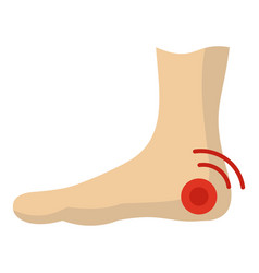 Foot heel icon isolated vector