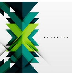 Futuristic blue and green color shapes vector