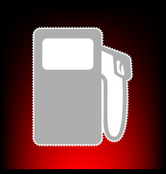 Gas pump style on vector