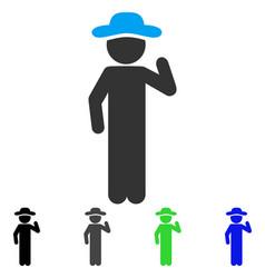Gentleman opinion flat icon vector