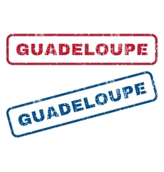 Guadeloupe Rubber Stamps vector image