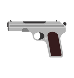 gun firearm rifle weapon pistol icon military vector image