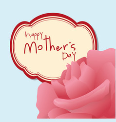 happy mothers day pink flower vector image