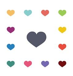 heart flat icons set vector image