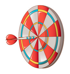 hit darts target icon cartoon style vector image