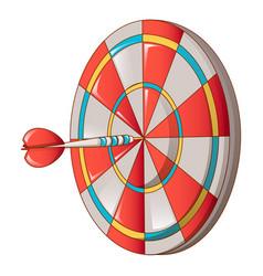 Hit darts target icon cartoon style vector