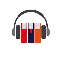 Icon audiobooks simple color vector