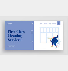 industrial alpinism cleaning company service vector image