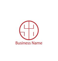 initial letter sa logo template design vector image