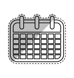 Isolated calendar symbol vector
