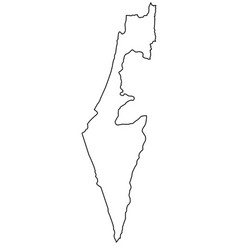 israel outline map vector image