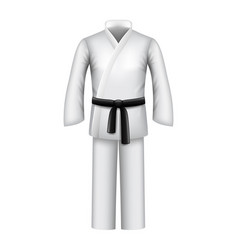 Karate kimono isolated on white vector