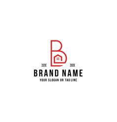 Letter b home logo design vector