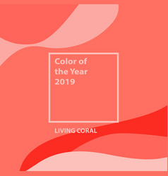 living coral color year vector image