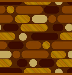 Oblong oval shapes horizontal repeat motif vector